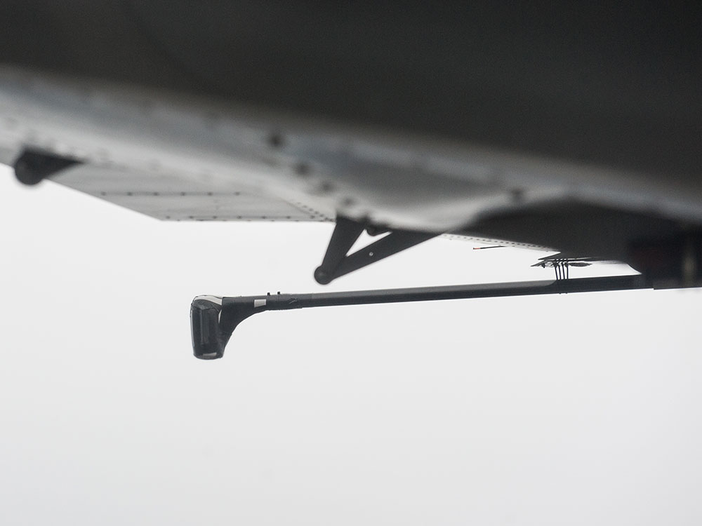 detailed view on wing tip stinger